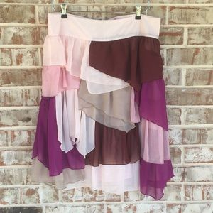 DownEast Boutique Pioneer Ruffle Boho Hippie Skirt